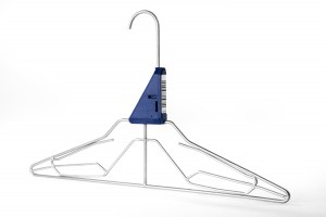 Extremely stable stainless steel hanger with clamping function, wedge blocker, chip holder and spacer 5831-96 wide