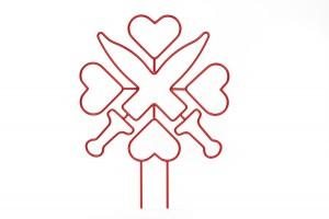 Hinterdobler Fabrikations GmbH | Individuelles Logo aus Draht |rot pulverbeschichtet