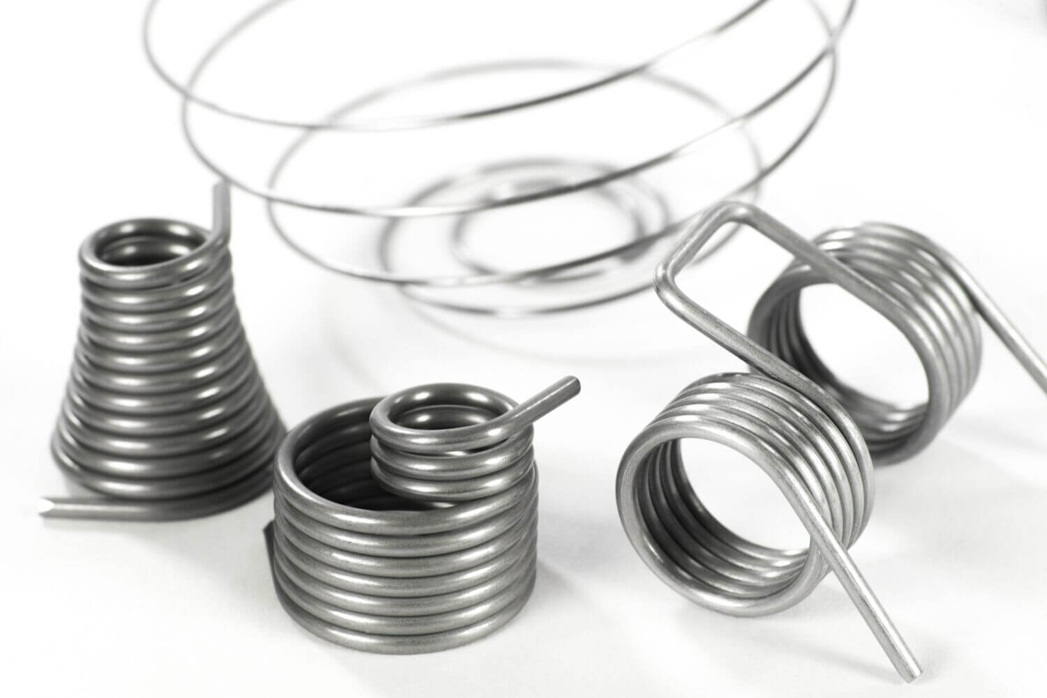 Wire spiral and wire springs